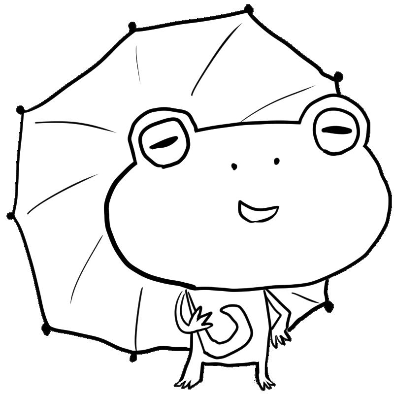 梅雨の時期湿ることに飽きたのかあるいはこれは真夏で日傘なのか傘