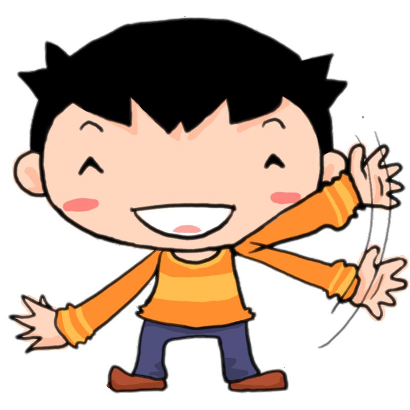 バイバーイ笑顔で手を振る男の子かわいい無料イラスト素材商用