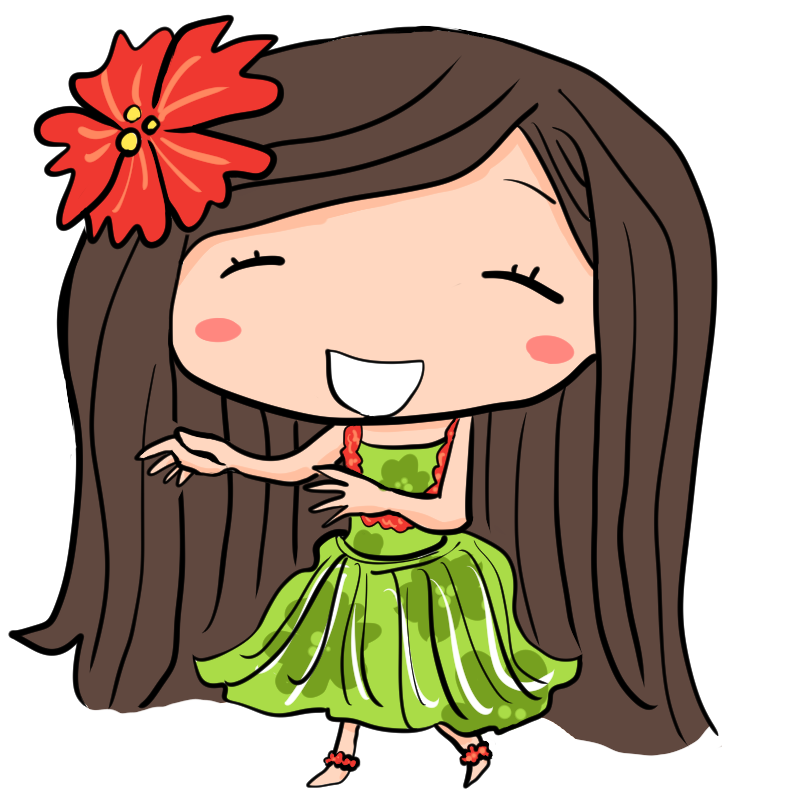 夏だハワイだバカンスだ笑顔でフラダンスを披露する女性かわいい無料