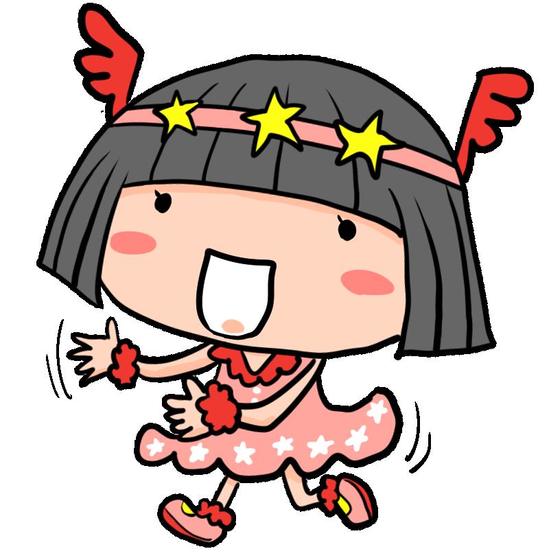 幼稚園の発表会 お遊戯会で妖精の衣装で楽しそうに踊る女の子 かわいい無料イラスト素材 商用利用可