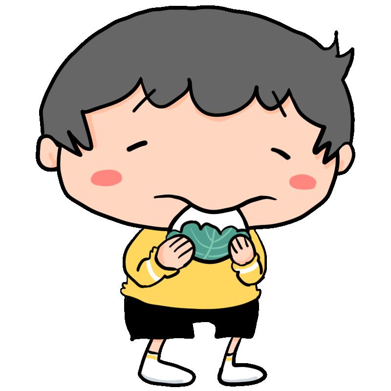 5月5日はこどもの日幸せそうな笑顔で柏餅を食べる男の子かわいい無料